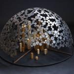 「 在る 」鉄、木、ステンレス 岡野 菜穂 2012