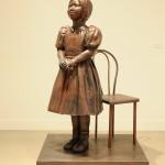 「やさしさをみあげる」銅、鉄 大塚 寛子 2012